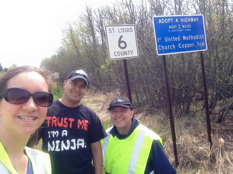 Roadside Clean-up with my congregation.