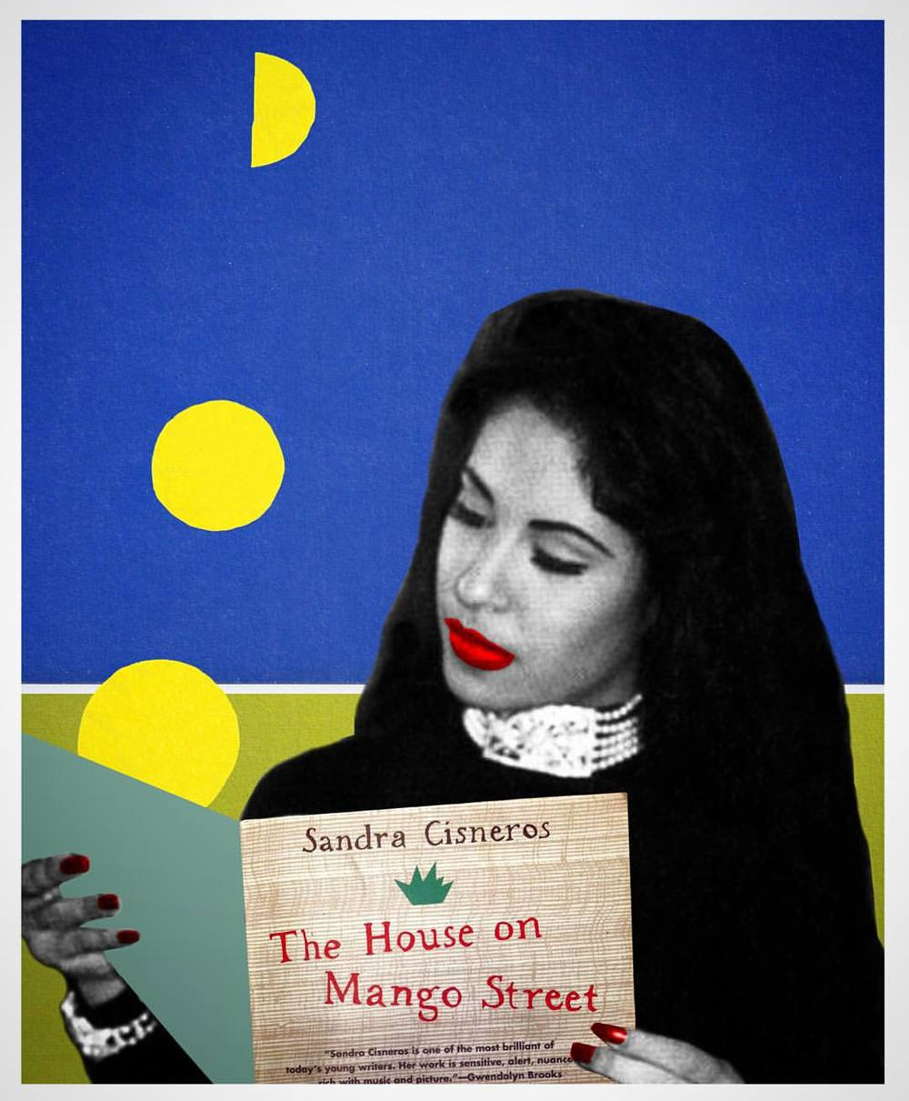 lexxdigs :     #Selena reads #thehouseonmangostreet by @officialsandracisneros // for the #richardoakesmulticulturalcenter       who is the artist?