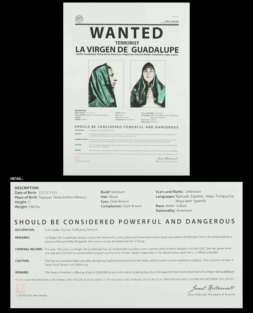 Wanted, 2010 Esther Hernandez