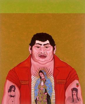 Hombre que le Gustan las Mujeres, 2000     César Martínez, born in Laredo, Texas, was a major figure in the Chicano art movement on the late 1970s and 1980s. He is based in San Antonio, where he makes portraits that have become icons of Texas art history.