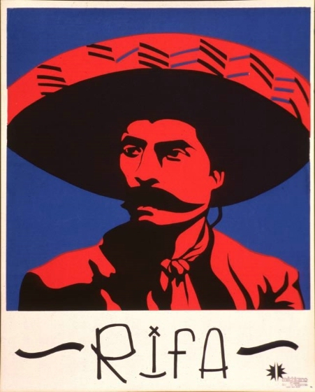 Leonard Castellanos' 'RIFA' (1972)      Silk-screen print    Courtesy of Center for the Study of Political Graphics, Los Angeles