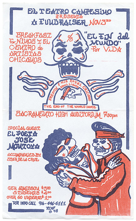 El Teatro Campesino Fundraiser; The End of the World Dance   Royal Chicano Air Force, poster 1978