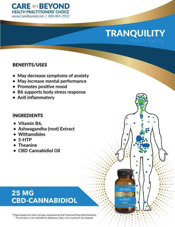 TRANQUILITY PILLS TRAINING SHEET     DOWNLOAD PDF OR PRINT, CLICK HERE