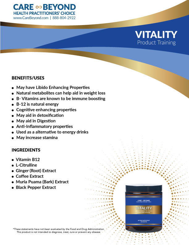 VITALITY POWDER TRAINING SHEET     DOWNLOAD PDF OR PRINT, CLICK HERE