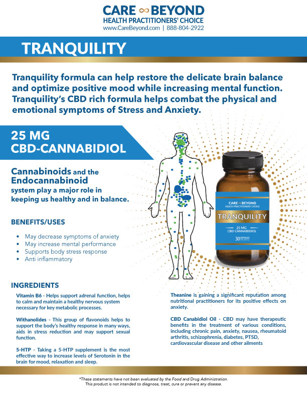 TRANQUILITY PILLS PRODUCT SHEET     DOWNLOAD PDF OR PRINT, CLICK HERE
