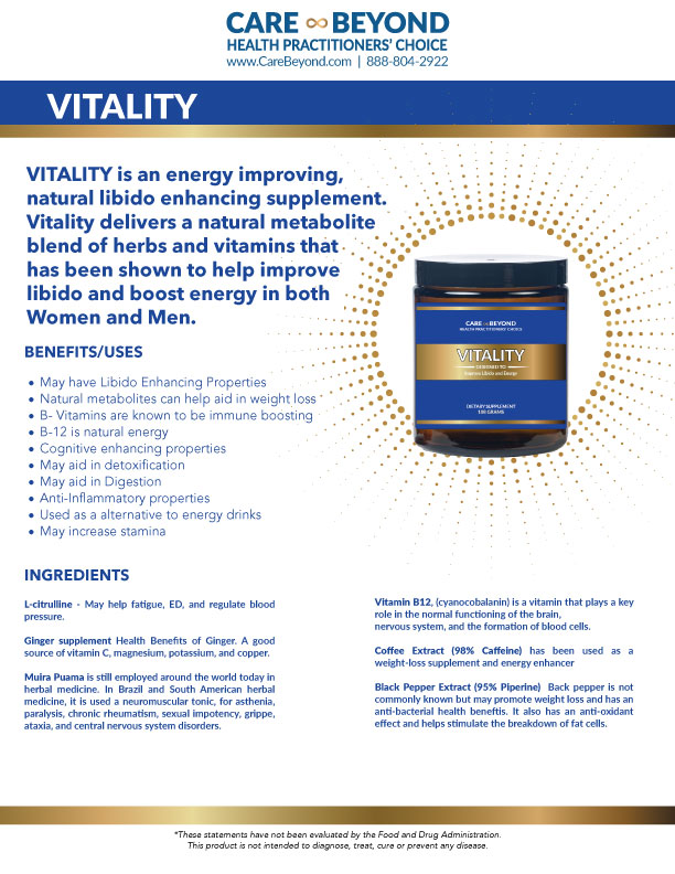 VITALITY POWDER PRODUCT SHEET     DOWNLOAD PDF OR PRINT, CLICK HERE