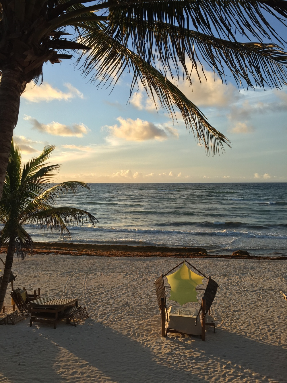The view from our cabana in Tulum.