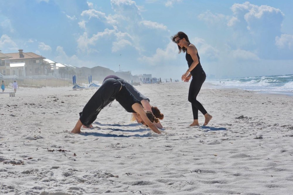 Family Beach Yoga Session, Carillon Beach, Florida.