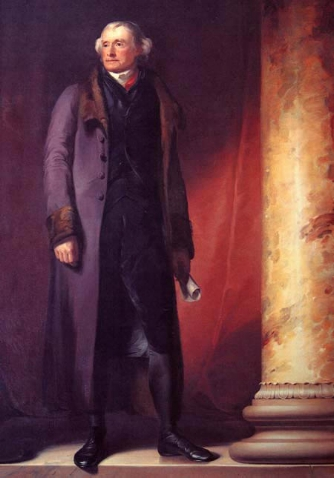 Jefferson portrait at West Point by Thomas Sully, 1821-22