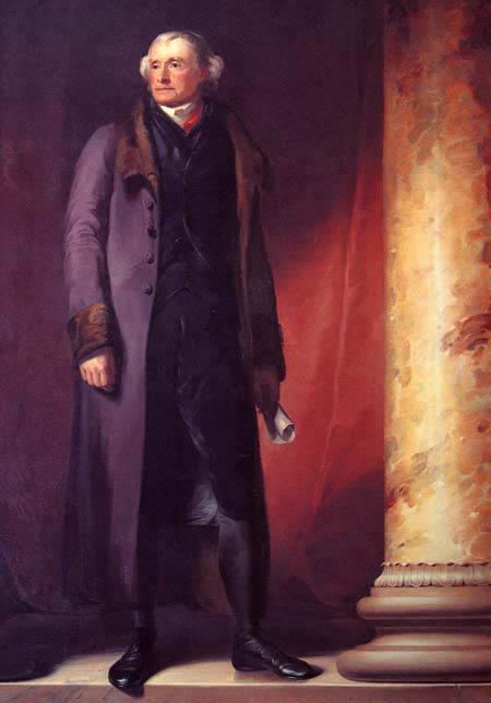 President Jefferson wearing Colonel Kosciusko's gift