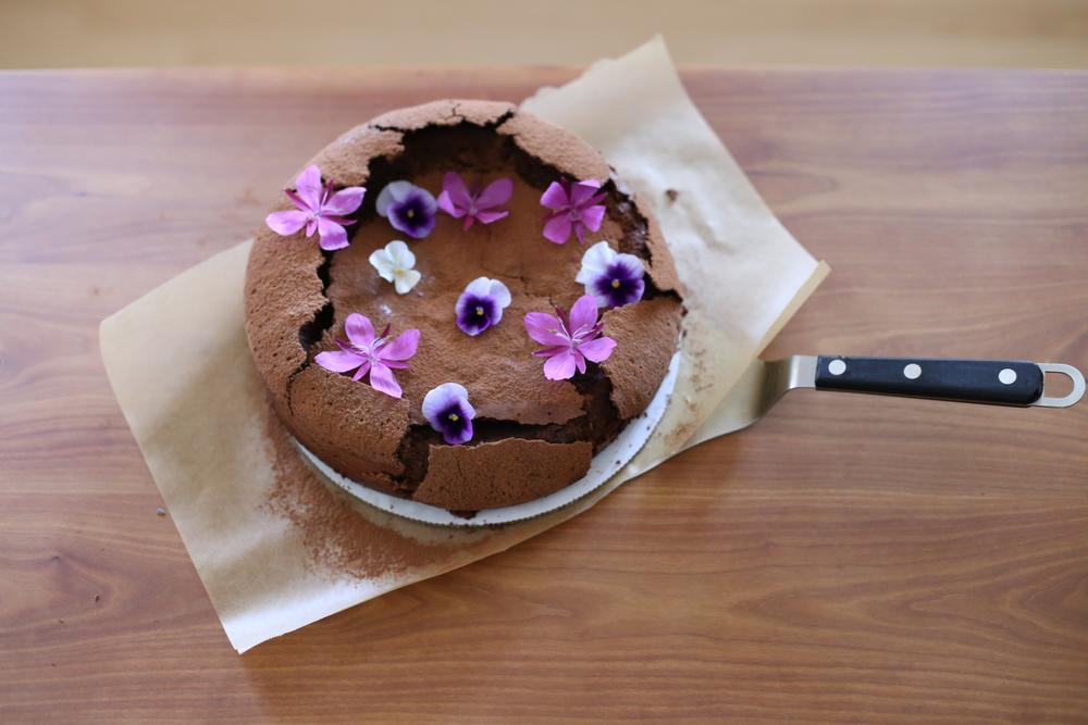Flourless Chocolate Cardomon Cake