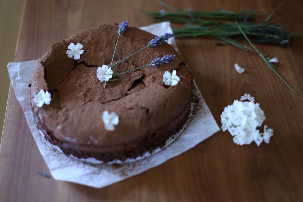 Flourless Chocolate Cardamon Cake