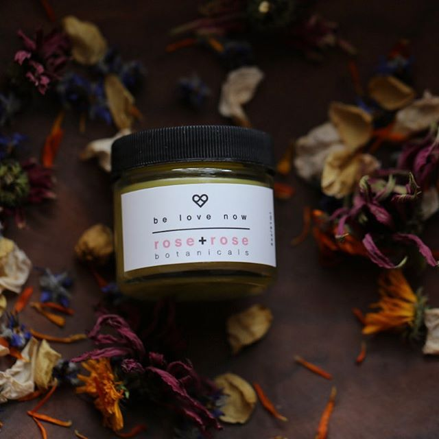be love now.  apply to all your immediate needs- cuts, burns, and bruises of body, heart and spirit 😊✨available at www.roseandrosebotanicals.com