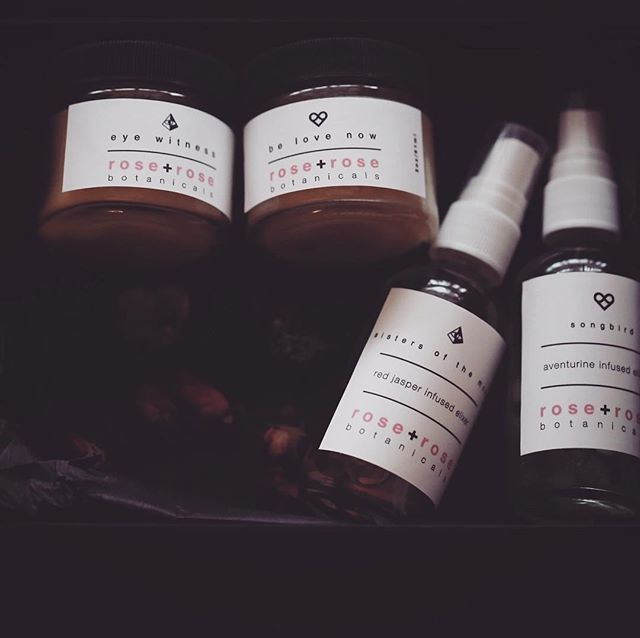 wild artisan alaskan botanicals @roseandrosebotanicals ✨ save 20% on our holiday box :: the heart + eye collection. eye witness salve and sisters of the moon elixir to calm skin and connect to the intuition:: be love now salve and songbird elixir for those first aid moments of skin and heart, healing and connecting us to unconditional love and compassion. $80 ✨  perfect gifts of love and gratitude #shoplocal