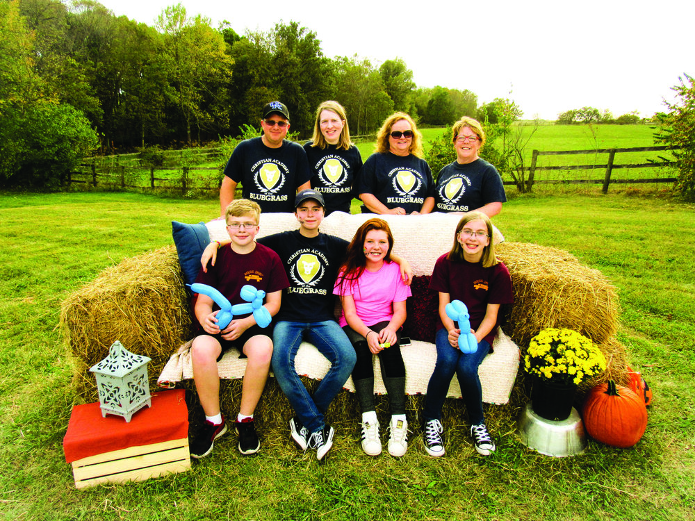 Left to right (back row):  Board members Terry carter, fonda carter, tammy lewis and laura king. left to right (front row): christian academy students, jackson, kaic, rileigh and alexa.
