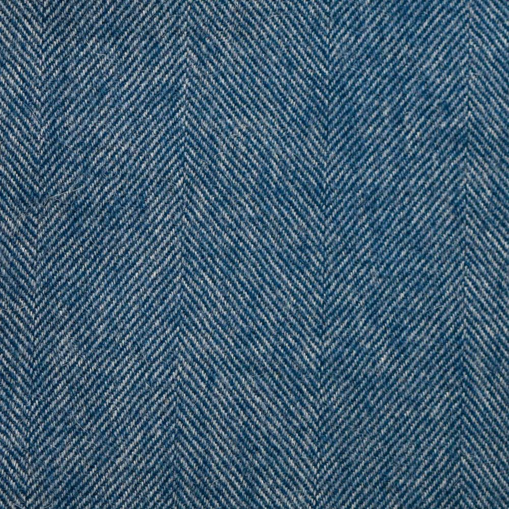Denim Blue Herringbone