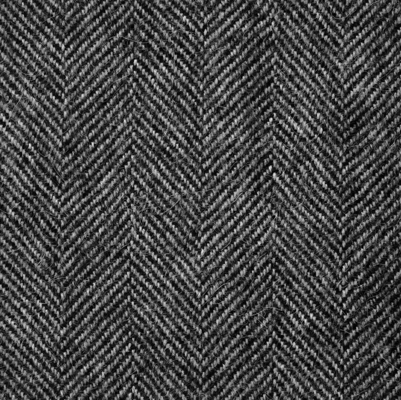 Black Herringbone
