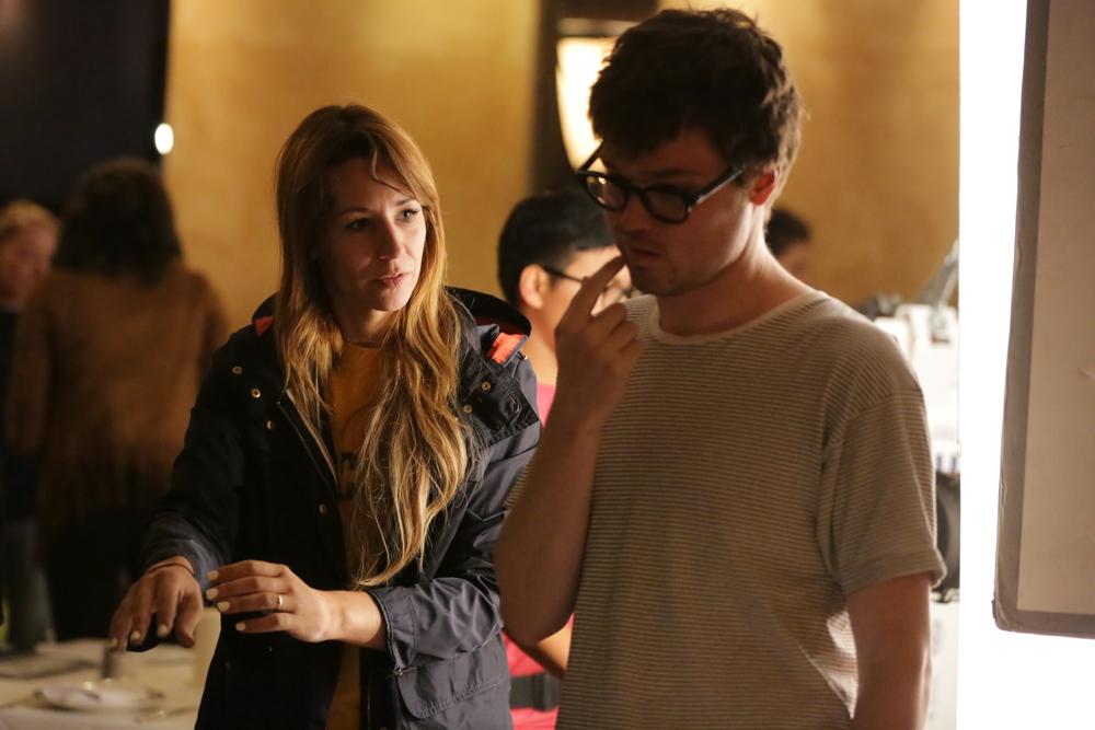 Sarah Scarlett Downing (Director) with David Kirkeby (DP)
