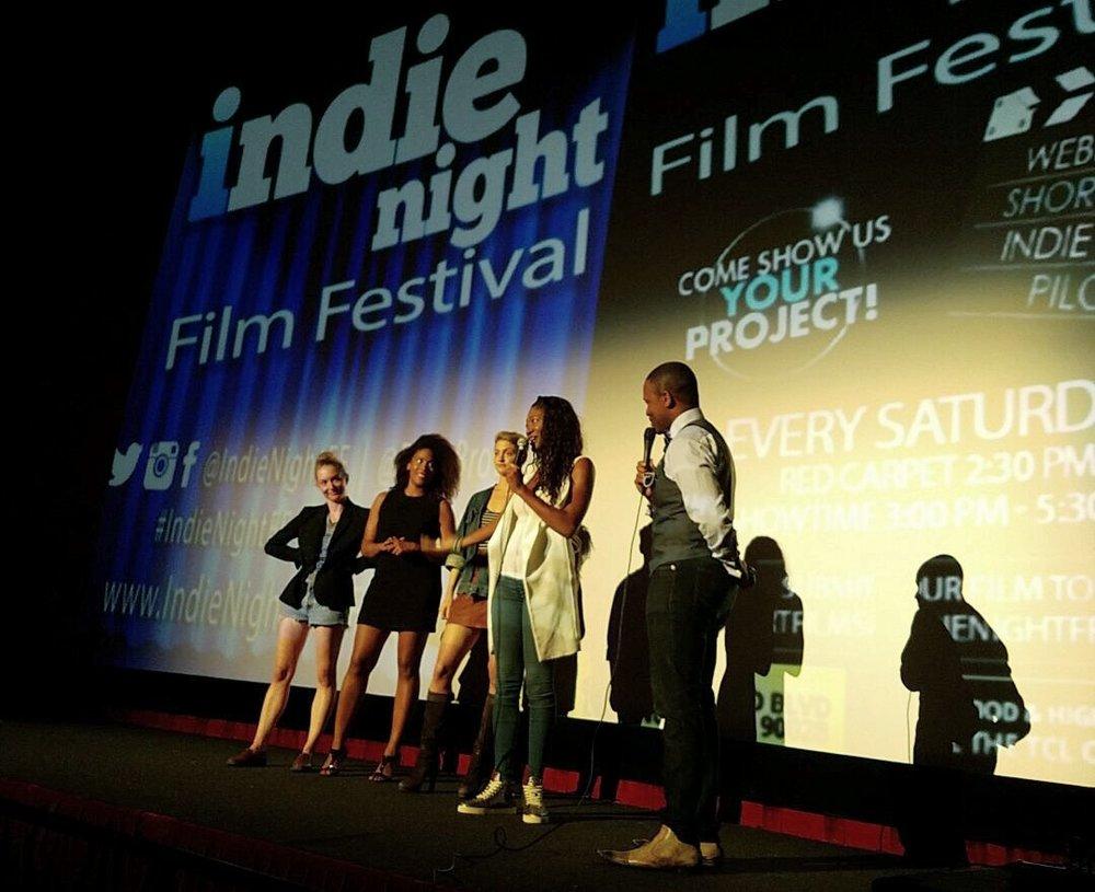 Charlotte Gleason (Director), Francesca Eaddy (Gabriella), Teagan Rose (Leah), Aletha Shepherd (Writer/Producer), MC