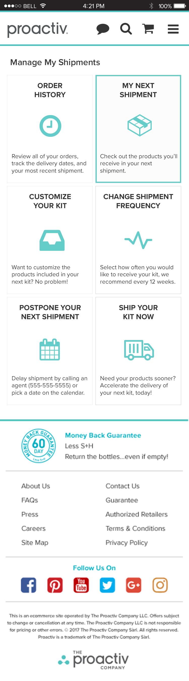 Manage My Shipments