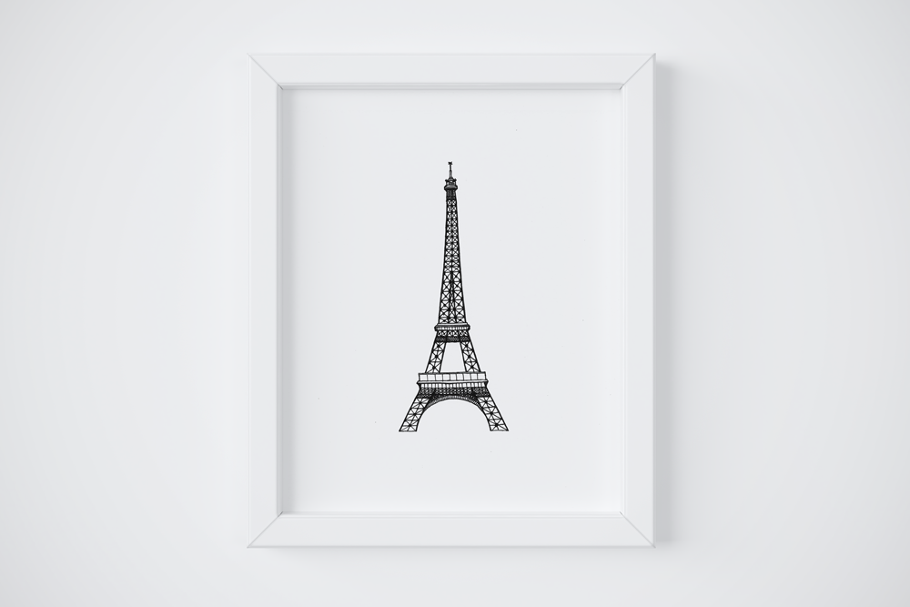 8x10 Eiffel Tower Print $14