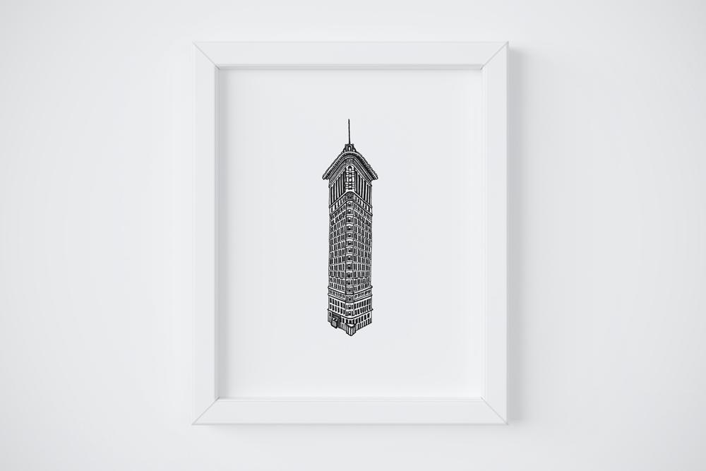 8x10 Flatiron Building Print $14