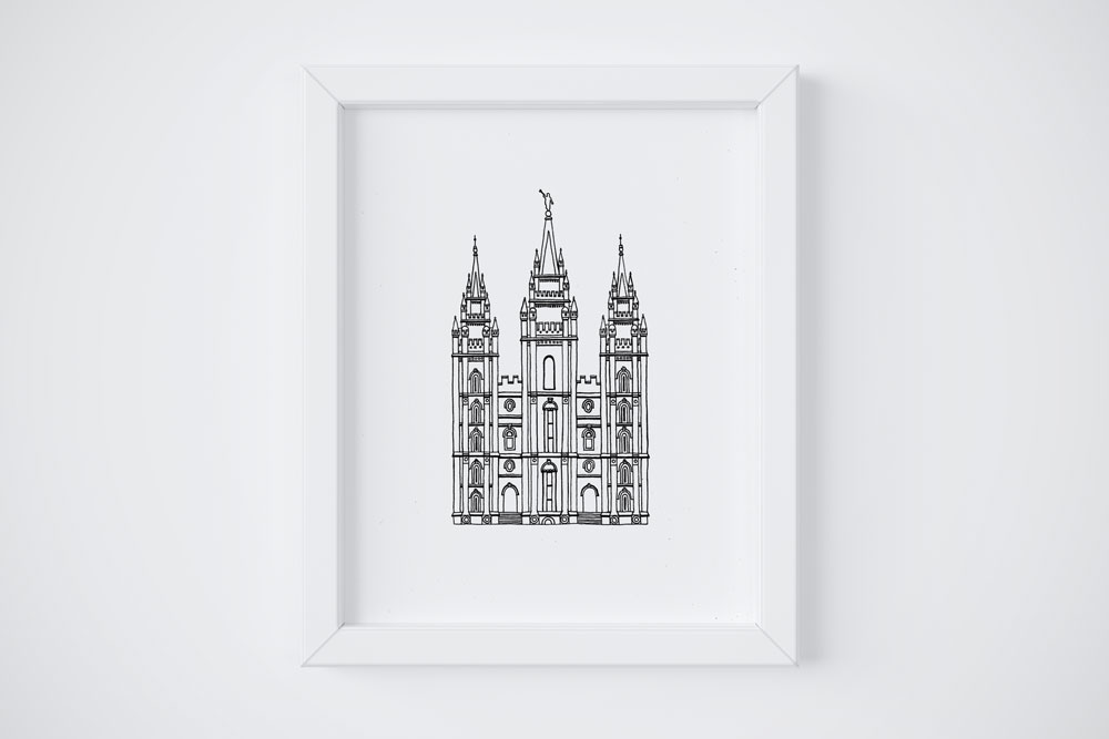 8x10 Salt Lake City LDS Temple $14
