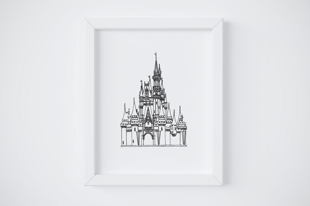 8x10 Cinderella's Castle $14