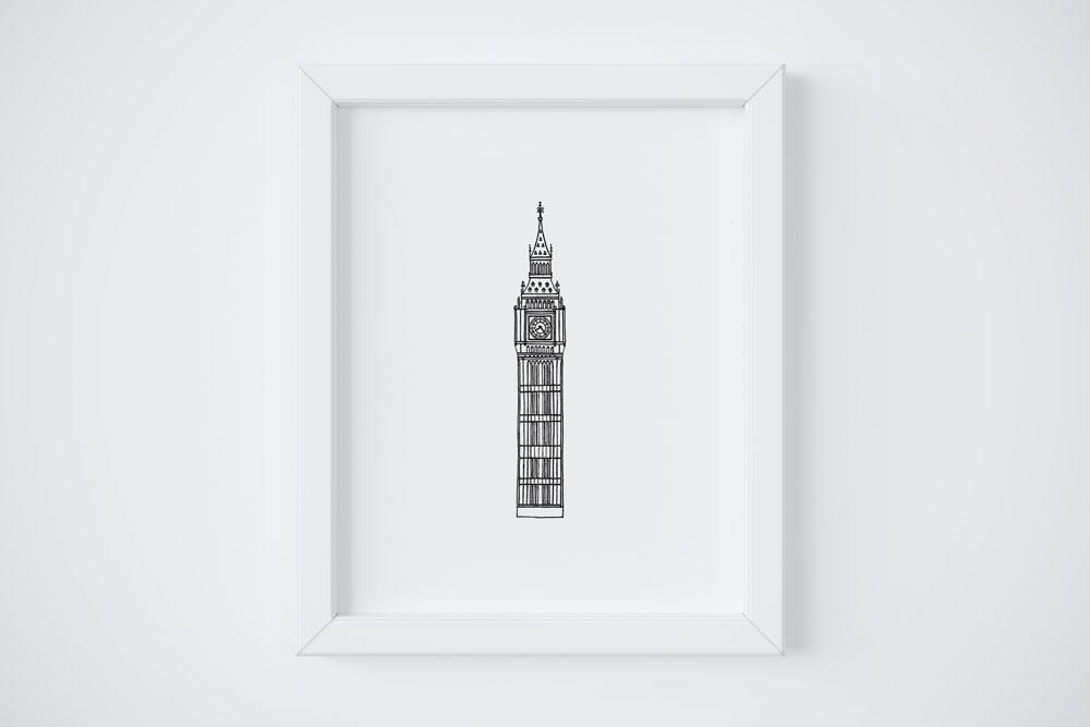 8x10 Big Ben $14