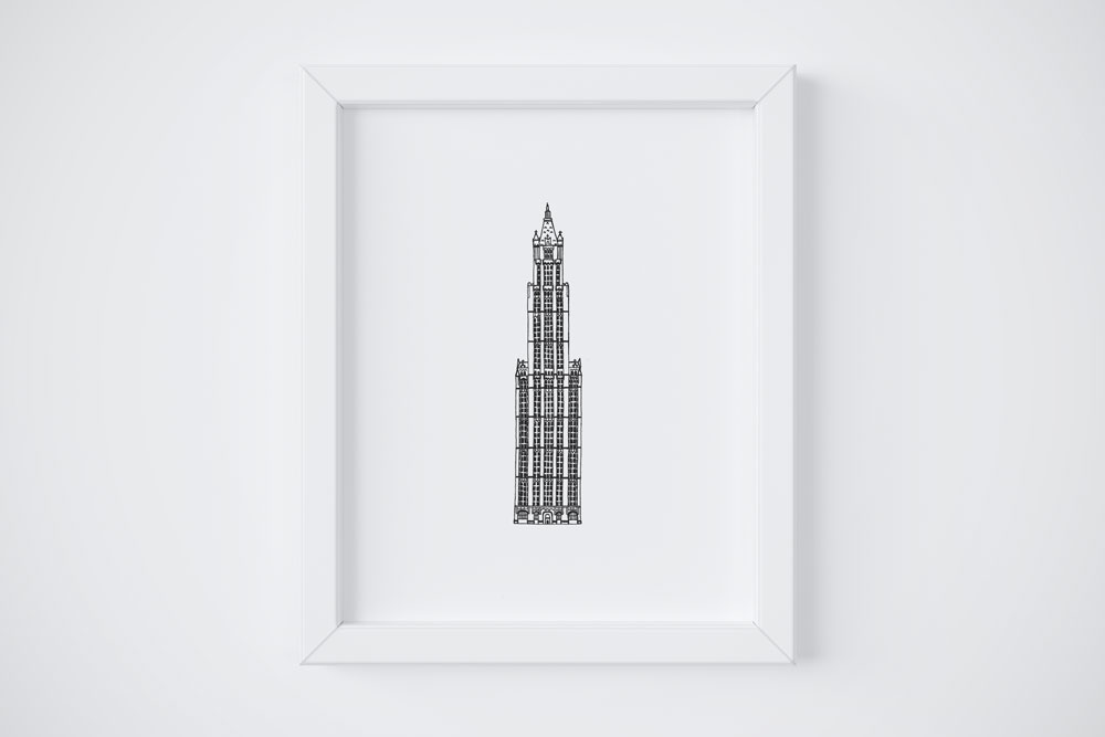 8x10 Woolworth Building $14