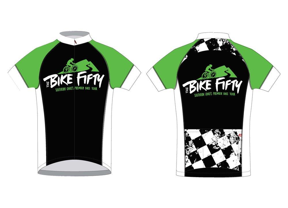 New for 2019! The Bike Fifty jersey will be available for purchase. T-shirts will also be available.
