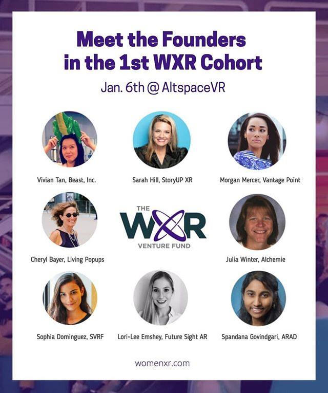 AR in VR?! So meta...we're going to be joining seven awesome startups tomorrow in AltSpaceVR with Women in XR to talk tech. It's an open pitch event so stop by and say hi!