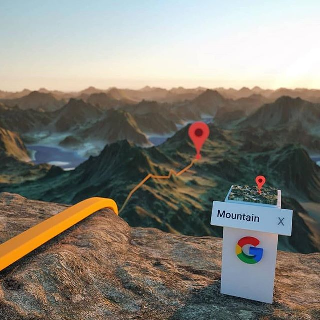 Has Google Maps ever steered you wrong? Well what if it was in #mixedreality? Might be a bit tougher to miss your exit. Concept by the talented Fyn Ng. • • • • #augmentedreality#smartglasses#hololens#googlemaps#ar#extendedreality#futuretech#startup#rockymountains#coastalmountains#westcoast