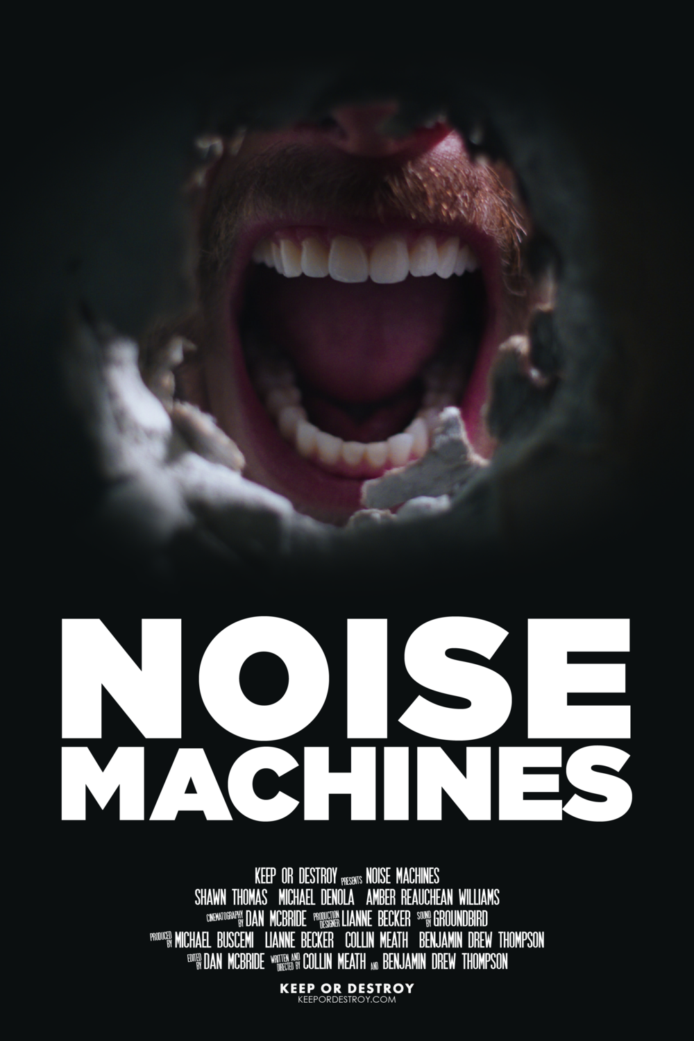 NOISE MACHINES - Currently in it's festival run, Noise Machines is the story of a Brooklyn drummer who begins hearing an irritating sound coming from within his bedroom walls and stops at nothing to eradicate it. In following an increasingly destructive path, he is confronted with the dangerous reality of toxic masculinity.