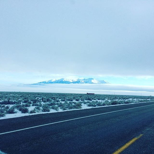 peekaboo glimpse of blanca from the early morn. ❄️🏔🌬 ... ... #mtblanca #winter #ontheroad