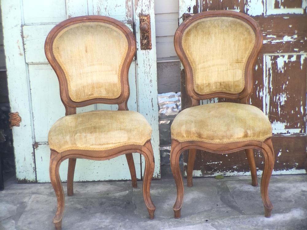 Bella & Mia Velvet Chairs