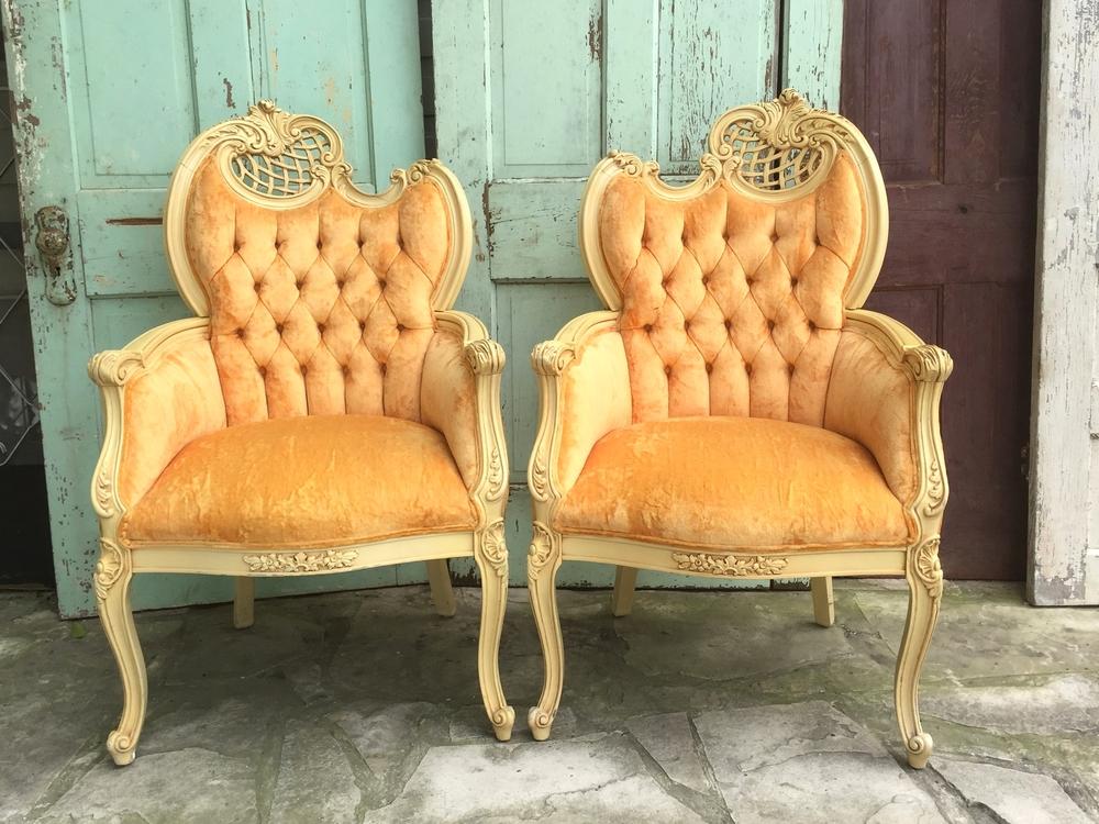 Marie & Antoinette Velvet Chairs
