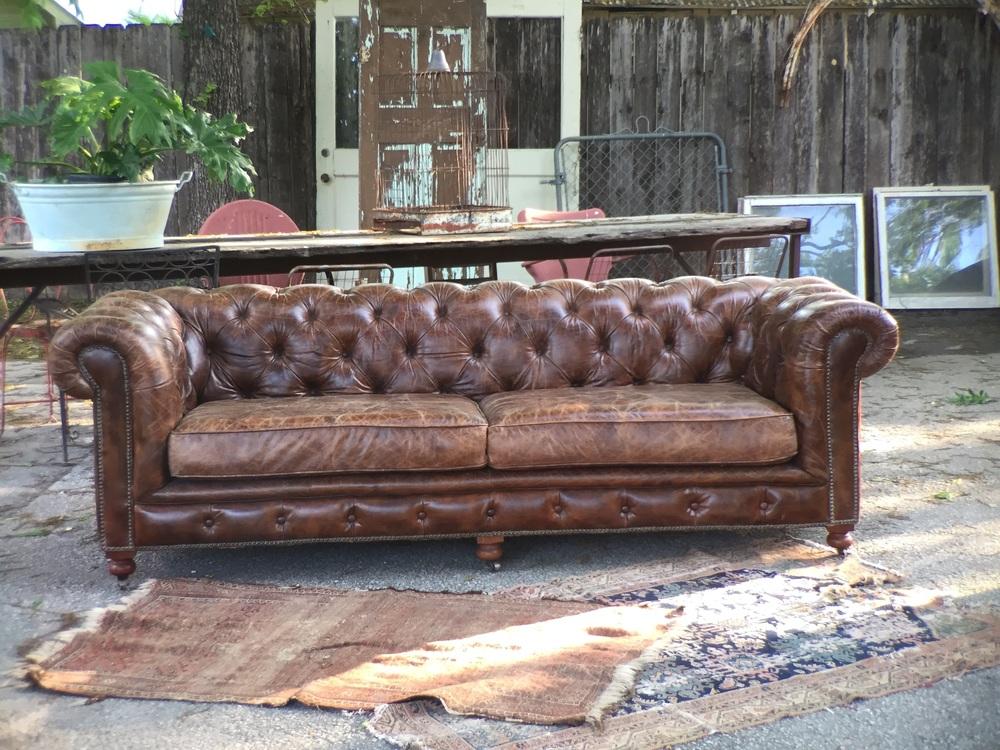 Winston Tufted Leather Sofa
