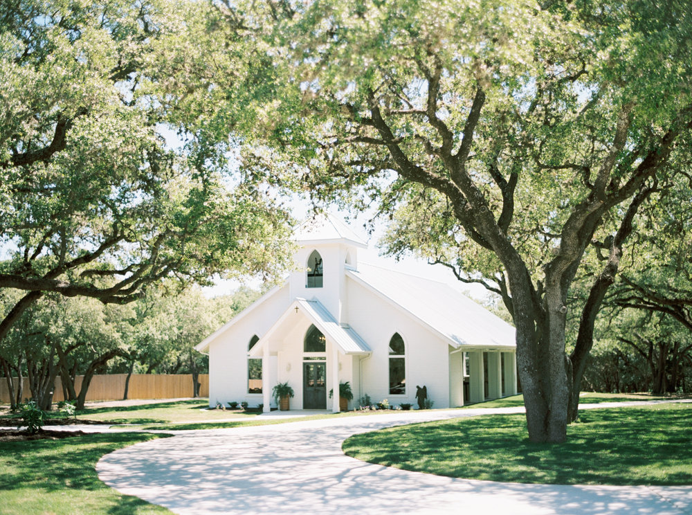 The chapel at The Chandelier of Gruene, tucked away in the middle of the hill country.