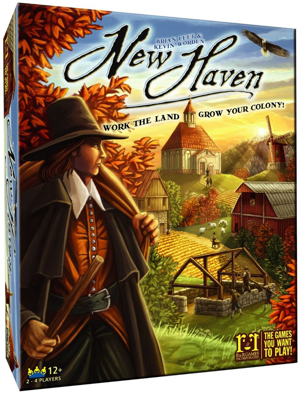 Donate By: Community Member - Set in colonial New England, players must develop the riches of the land and build a thriving settlement.Tile Placement60 minutes, 2 - 4 players, ages 12+