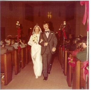 Mr and Mrs!  December 18, 1977