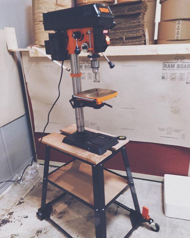 #tools of the #brick trade #designmakeseverythingpossible #brickxbrick2017 #bricksandbricksandbricks #brickxbrickltd #design #graphicdesign #drillpress