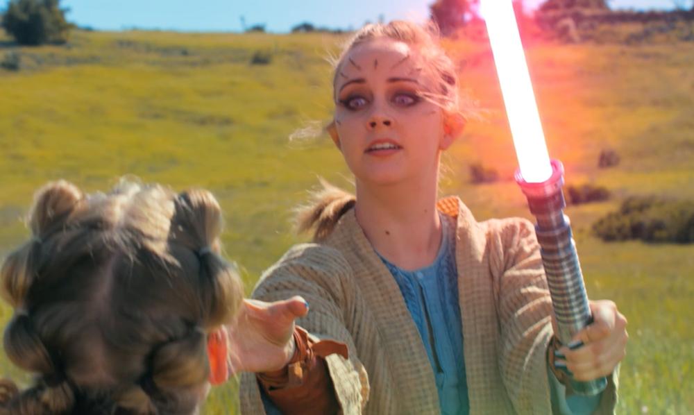 Marianne Haaland as Skye using Force choke in  Star Wars: Rivals !