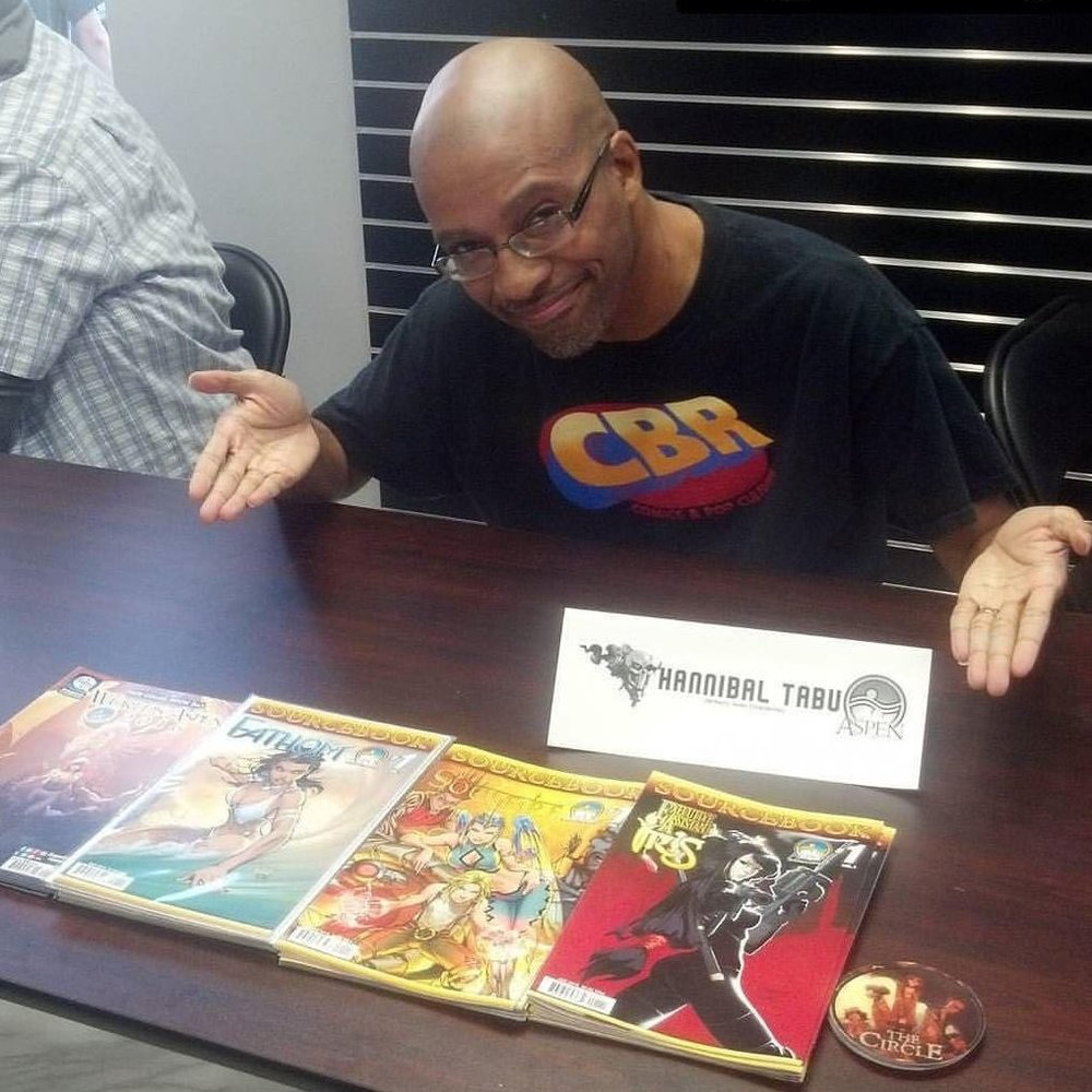 Hannibal Tabu, writer and comic book author