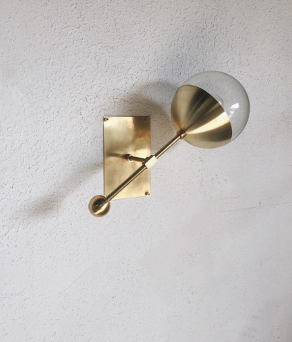 Brass Sconce via Triple Seven Home