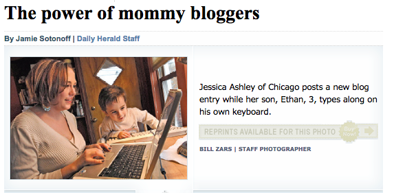 The Power of Mommy Bloggers - Daily Herald, 2007