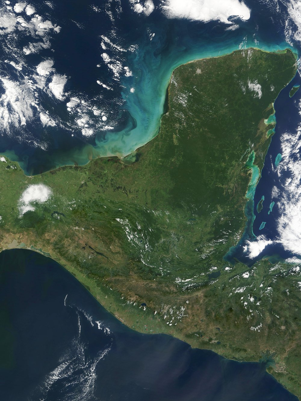 Yucatan Peninsula. Image via Wikipedia.