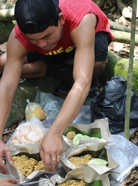 Mittagessen im Dschungel