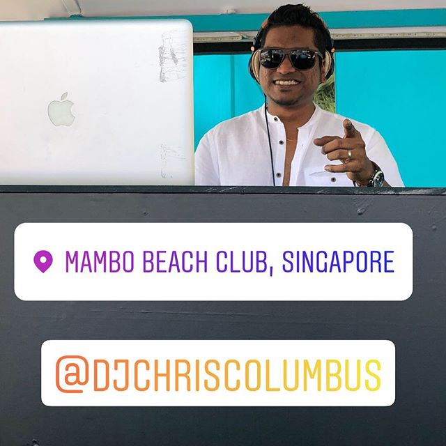 Great weather! Come experience the #Sun, #Sand and the #Wind listening to the wicked tunes by @djchriscolumbus @g.o.d_groupofdjs. Only at @mambobeachclubsg.  #sentosa #sunglazed #beachbar #beachlife #poolside #saturday #chilling