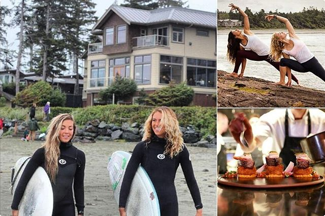 Does your #2017BucketList include surf, SUP, yoga or fine dinning? Long Beach Lodge has it all. Visit @longbeachlodgeresort to #Findyouradventure. #tofino #yourtofino #explorebc #surf #sup #yoga #foodporn #explorevancouverisland photo credits to Long Beach Lodge Resort.